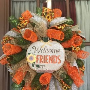 Welcome Wreath (Fall Colors)